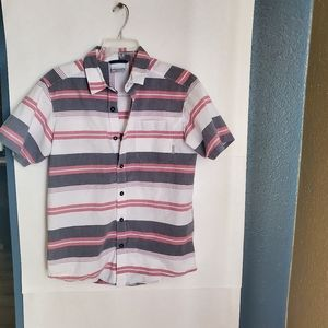 Columbia short sleeve striped button down